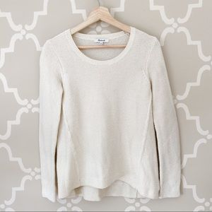 Madewell Cream Lightweight Knit Sweater
